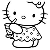 hello kitty a imprimer